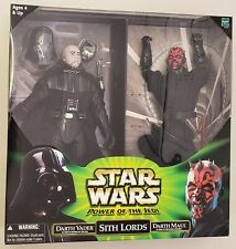 STAR WARS POWER OF THE JEDI SITH LORDS DARTH VADER DARTH MAUL 12 INCH TWO PACK
