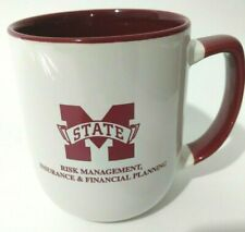 MIssissippi State Bulldogs Insurance Jumbo Oversized Mug Coffee Cup White Maroon