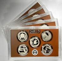 2015 ATB NATIONAL PARK QUARTERS 5-COIN CLAD PROOF SET ~ GROUP OF 5 SETS!