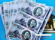 Korea 5000 Won 2006 3in1 Uncut With Folder (UNC) 金日成诞辰100周年连体钞 朝鲜三连体 带册