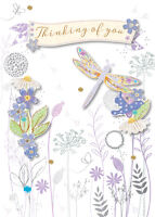 Thinking Of You Embellished Greeting Card By Talking Pictures Cards