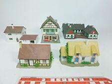 AZ778-1# 5x Pola, Heljan etc H0 Modell: Bauernhof+Reethaus+Fachwerkhaus etc