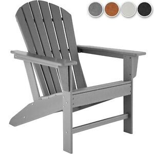 Chaise de Jardin Design Adirondack 1 Place Fauteuil d´Extérieur Ergonomique