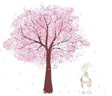 Cherry Blossom Tree Wall Decal Removable Sticker Nursery Bedroom Woodland Deer