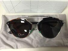 Christian Dior SO REAL Palladium Black Silver Frame Grey Lens B1A/Y1  Sunglass