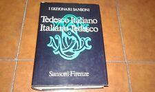 MACCHI DIZIONARIO TEDESCO ITALIANO ITALIANO TEDESCO SANSONI EDITORE 1978