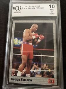 1991 All World George Foreman #16 Beckett BCCG 10 Mint
