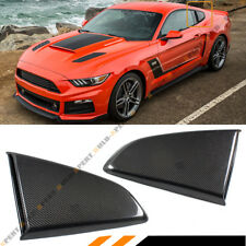 For 2015-17 Mustang R Style Carbon Fiber Side Window Quarter Scoop Louver Covers