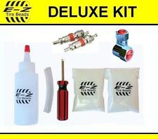 E-Z Tire Beads Motorcycle Balance Deluxe Kit Ceramic 2+2 oz(4 Total) Chrome Caps