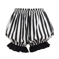 Women Safety Pants Bottoms Striped Shorts Lolita Girls Bloomers Casual Pants