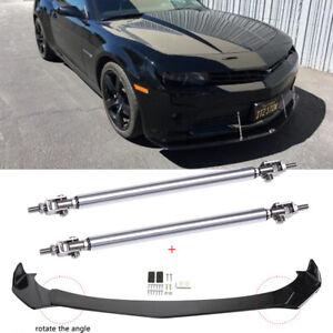 For Chevy Camaro Sonic Cruze Front Bumper Lip Splitters Spoiler + Strut Rods JQ