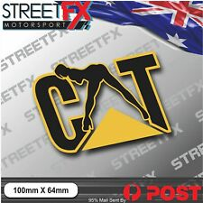 CAT Naughty CATERPILLAR Sticker Decal Construction Work Safety Digger Backhoe