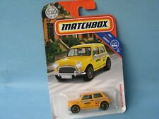 Matchbox 1964 Austin Mini Cooper S Yellow Toy Model Car 60mm New York Taxi in BP
