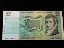 Australia 1966 $2 Coombs Wilson Note FIRST PREFIX FAA Commonwealth of Aus #ZY1a