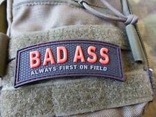 JTG  BAD ASS, Always first on field Patch, red blackops / JTG 3D Rubber Patch