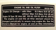 KAWASAKI Z1300 KZ1300 ENGINE OIL AND OIL FILTER CAUTION WARNING DECAL