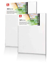 "Set of Canvas 16x20"" 40x50 Cm Artist Blank Stretched & Gesso Primed Framed 10"