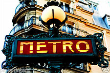 The Metro Sign In Paris - Canvas Print - New