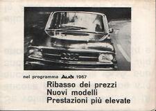Brochure Depliant Audi Auto-Union Gamma 1967 Audi 70 Audi 80 Audi Super 90 ITA