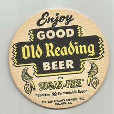 "1950's Old Reading Beer Coaster -Reading, Pa ""Sugar Free"" #042 ""Enjoy"""