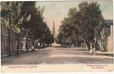 CGH: Postcard, Church Street, Cradock: Middelburg to Wiltshire, 20 Aug 1907