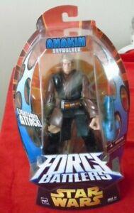 Star Wars Force Battlers Anakin Skywalker Lightsaber Attack Action Figure NIP