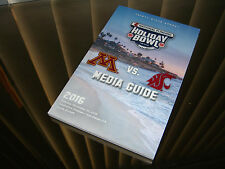 2016 Holiday Bowl Gameday Media Guide - Minnesota vs Washington State