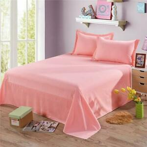 New Flat Sheet Bed Sheets 100% Poly Cotton Single Double King Super King