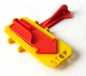 Faller O gauge lever activated stop switch, red, for garden railway 'Hit Train'