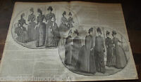 ANCIENNE REVUE LE PETIT ECHO DE LA MODE DE 1888 Nombreuses Gravures n°47