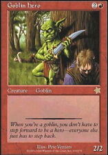 4x Goblin Hero MTG Starter 1999 NM Magic Regular