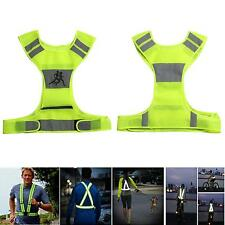Reflective Vest Visibility Top for Running Jogging Cycling 2 Safety Arm Band