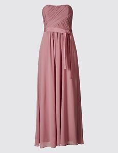 M&S Detachable Straps Maxi Dress 10 Reg Antique Rose