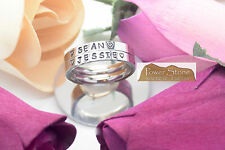 Engraved Name Ring~S/ Steel silver~ 3mm stackable~Personalized~ Quick ship!