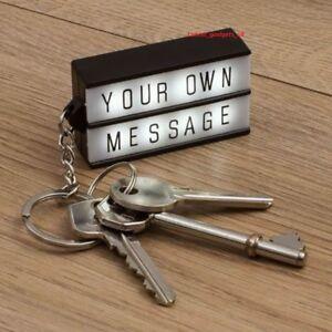 Light Up Keyring Key Chain White Message Box Cinema Cinematic Personalised Gift