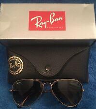 Rayban Sunglasses Aviators RB3025 Original Box and Case