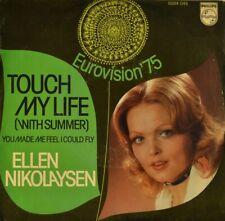 "7"" ELLEN NIKOLAYSEN Touch My Life PHILIPS Grand Prix Eurovision Norway ESC 1975"
