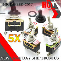 5 Choke Toggle Switches 975257 Momentary 125v 15A Carling Bulk Switch Horn Stop