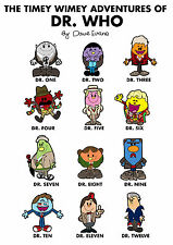The Doctor Mr Men mash up Print - Doctor Who