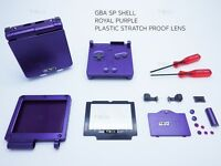 Royal Purple Nintendo Game Boy Advance SP GBA Case Casing Shell Housing Tool