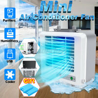 3 in 1 Portable Air Conditioner Personal Air Cooler Fan Humidifier Purifier