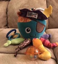 "Lamaze Octopus Nursery Toy 8"" H Infant Pirate Costume Play Rattle HTF"