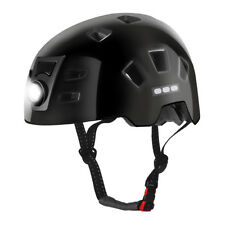 RockBros MTB Road Bike Cycling Ultralight Helmet USB Recharge Smart Light Black