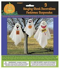Halloween Decorations - 3 Hanging Ghosts (Unique) - Outdoor Decorations