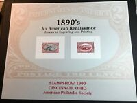 U.S. Scott #SC129 BEP STAMPSHOW 1990 Souvenir Card