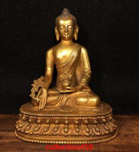 Tibet Tibetan Buddhism Pure copper Shakya Muni Pharmacist Buddhism Buddha statue