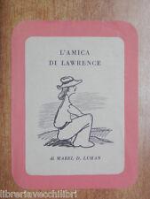L AMICA DI LAWRENCE Santino Segnalibro Pubblicitario Editoriale di Leo Longanesi