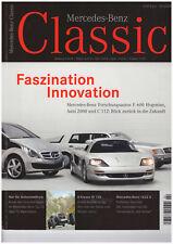 Mercedes-Benz Classic 2/2009 Magazin, Forschung: Auto  2000, C112, F600, W126 KB