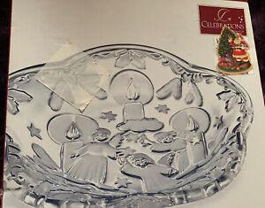 Mikasa Holiday Lights-Bon-Bon/Candy Serving Dish/Tray-SA863/527-Angels/Candles