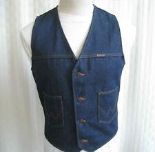 Wrangler Denim Jeans Vest Men Size L Rare Crafted With Pride In Usa Vintage